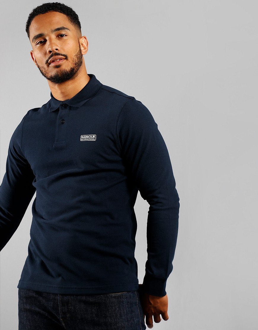 Barbour International Long Sleeve Polo Shirt International Navy