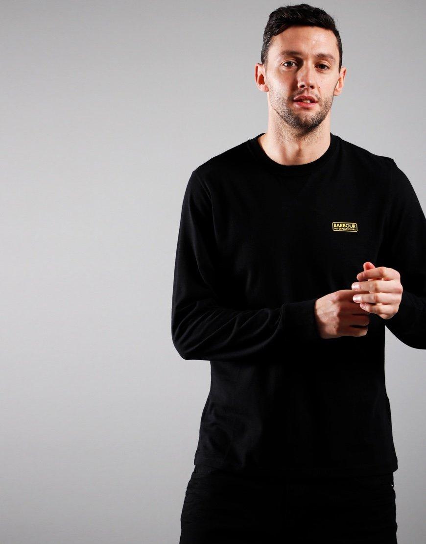 Barbour International Long Sleeved Logo T-Shirt Black