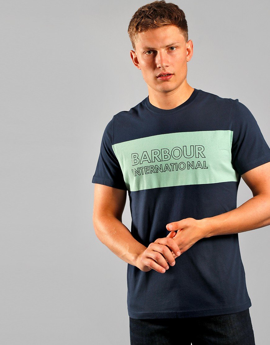 Barbour International Panel Logo T-Shirt International Navy