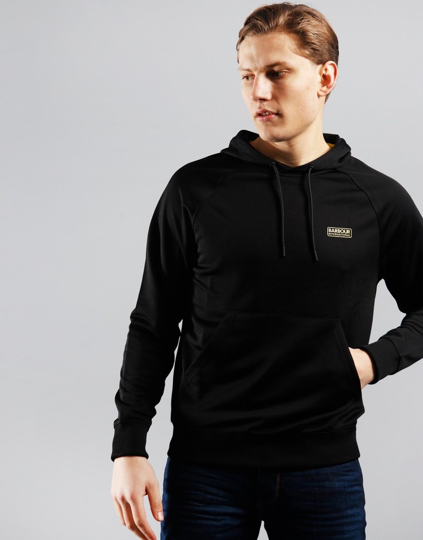 Barbour International Pop Over Hoodie Black