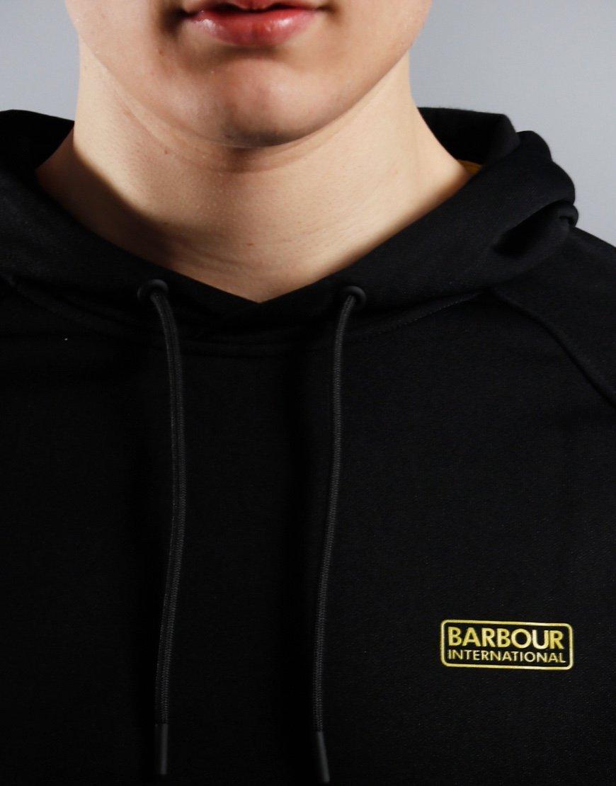 Barbour International Pop Over Hoodie Black