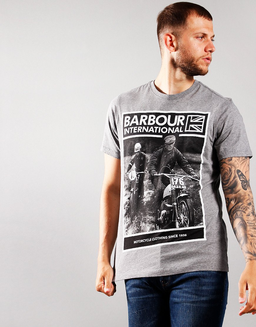 Barbour International Racer T-Shirt Anthracite
