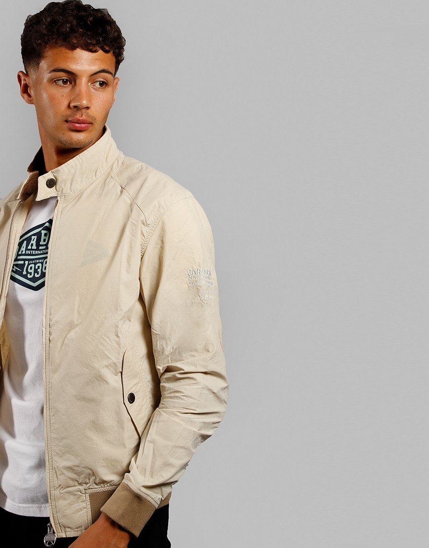 Barbour International Rectifier Harrington Jacket Fog Beige