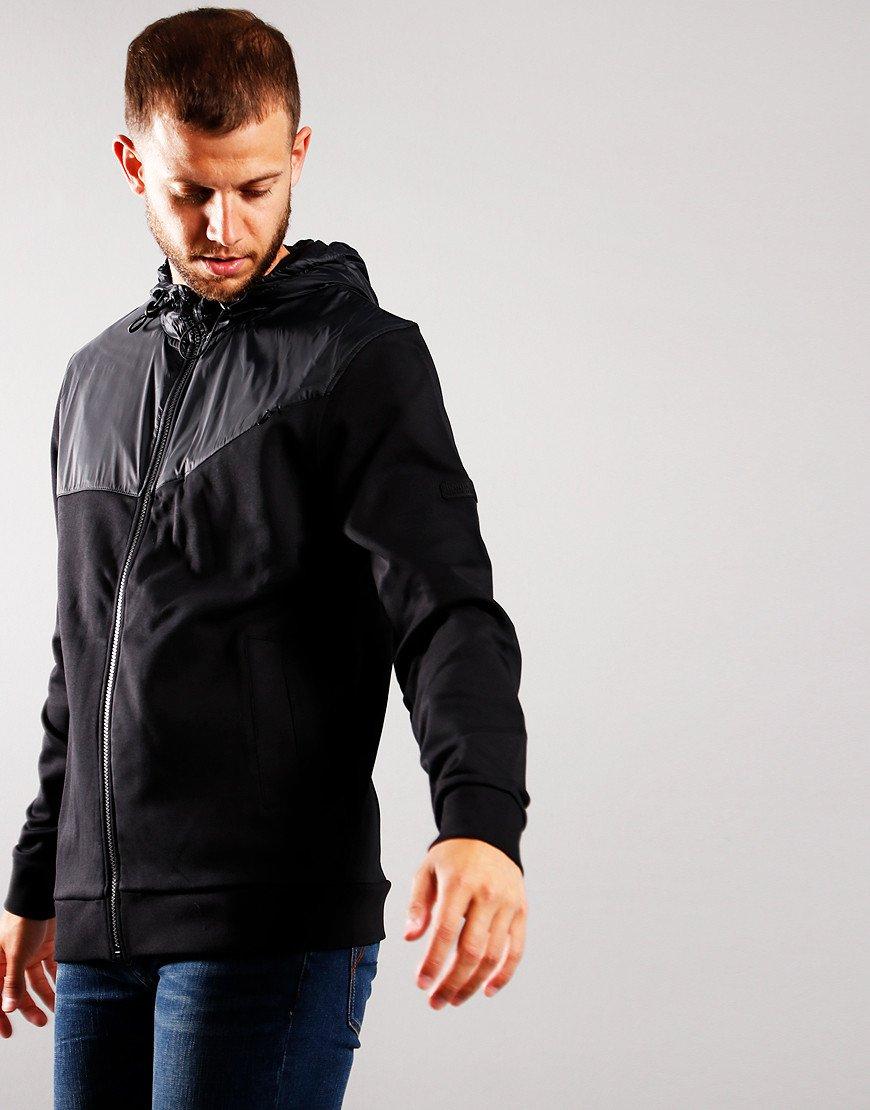 Barbour International Saddle Hooded Jacket Black