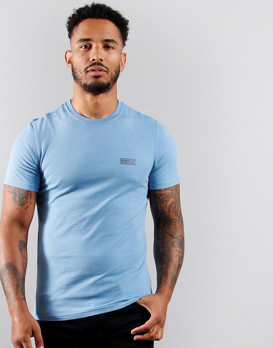 Barbour International Small Logo T-Shirt Cool Blue
