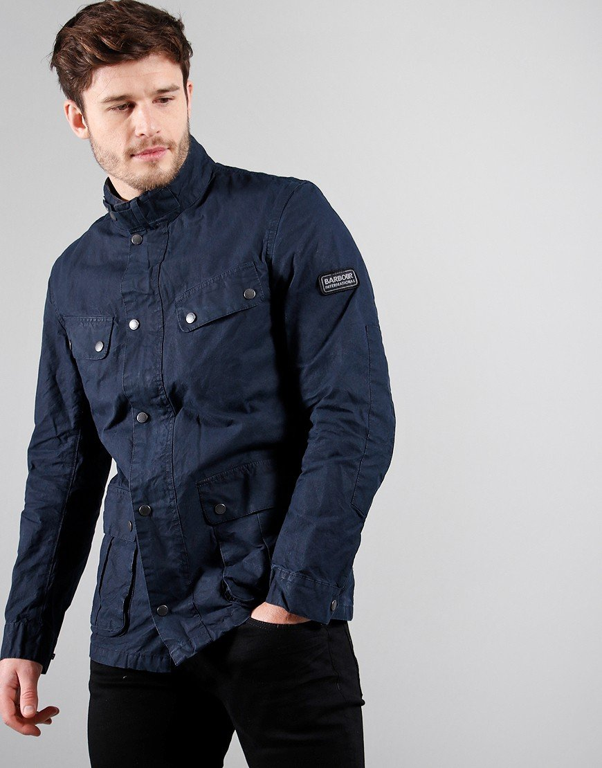 Barbour International Summer Wash Duke Casual Jacket Navy