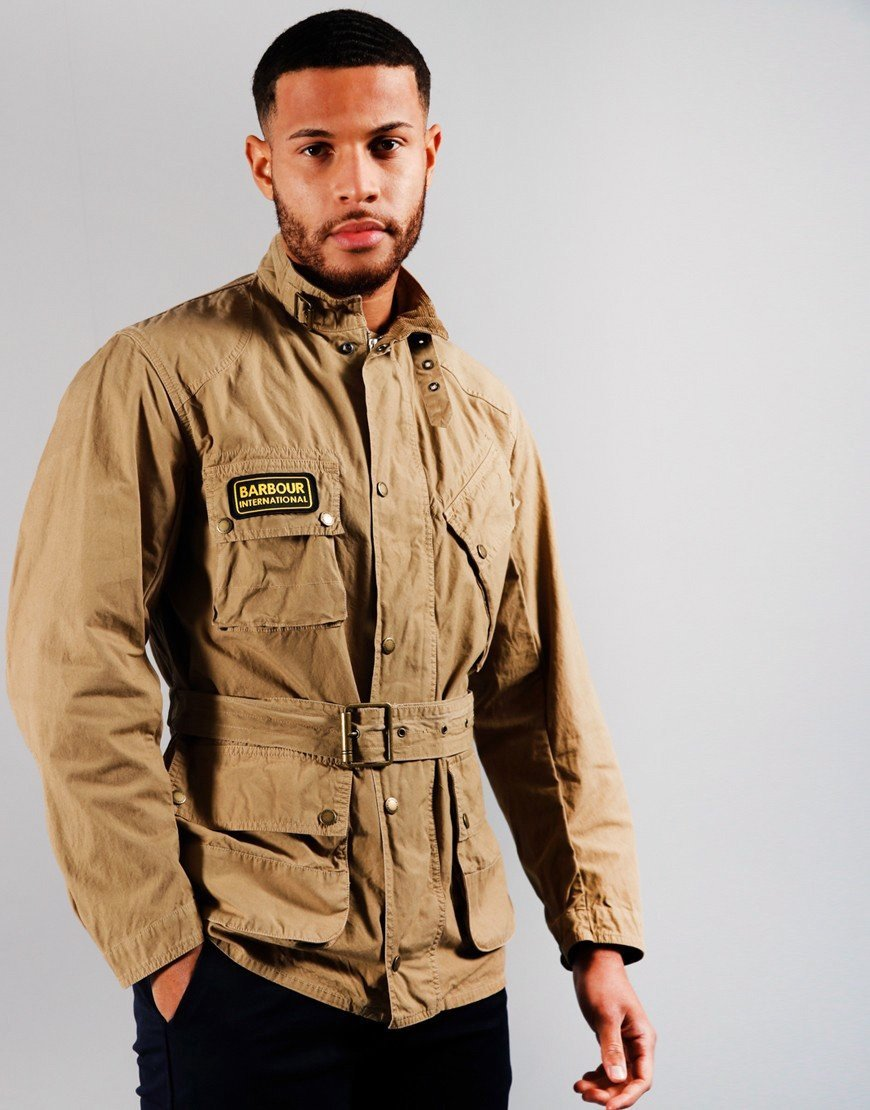 Barbour International Summer Wash A7 Casual Jacket Stone