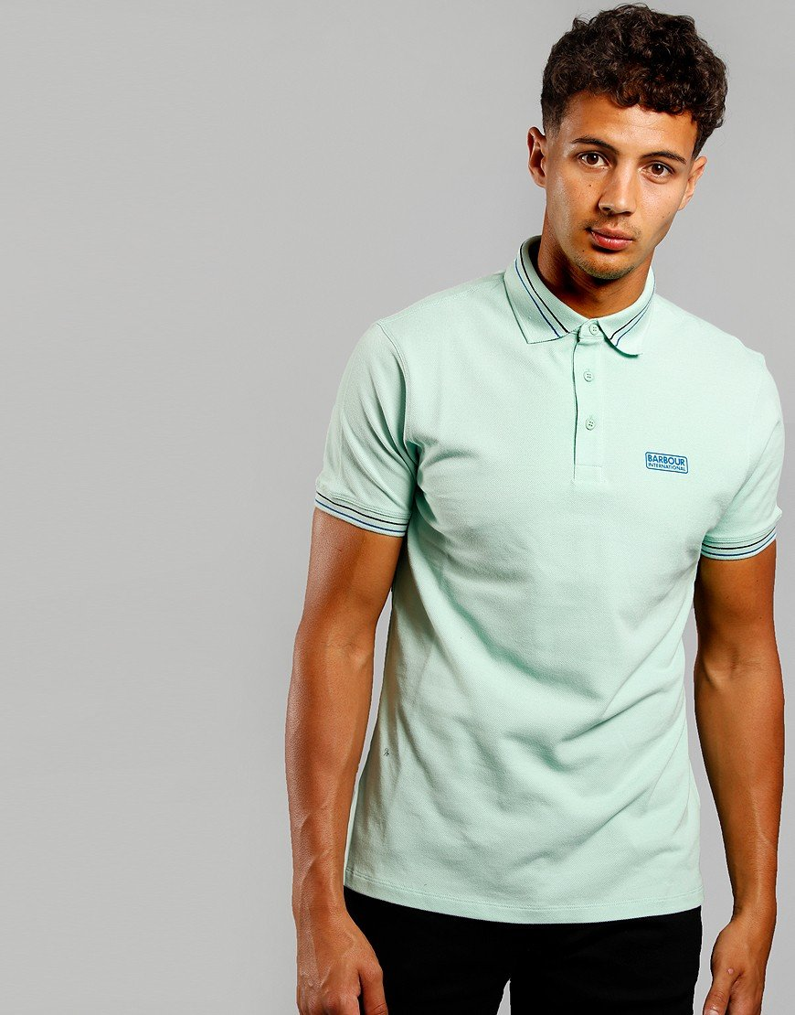 Barbour International Switch Tipped Polo Shirt Peppermint