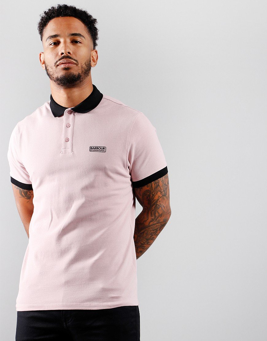 Barbour International System Polo Shirt Dust Pink