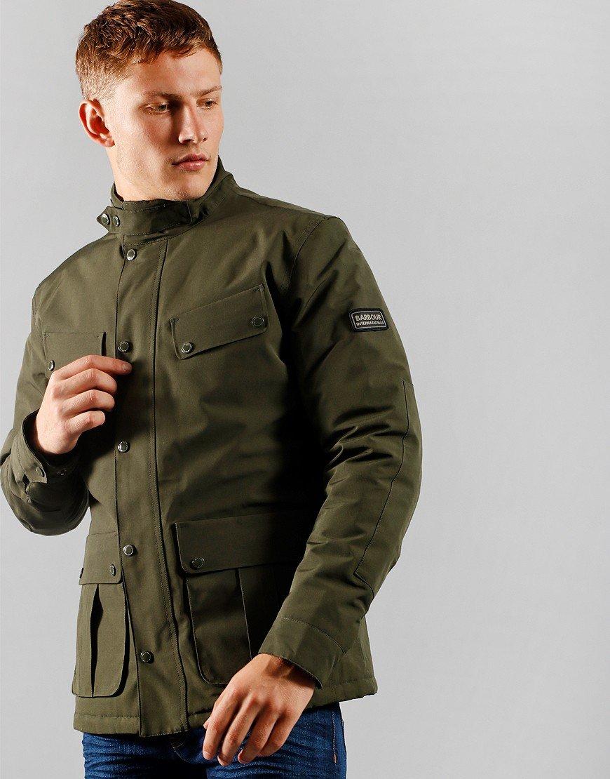 Barbour International Duke Waterproof Jacket Sage