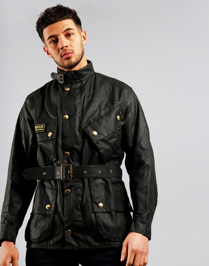 Barbour International Original Wax Jacket Sage