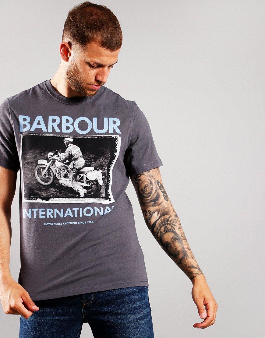 Barbour International Frame T-Shirt Dusk Grey