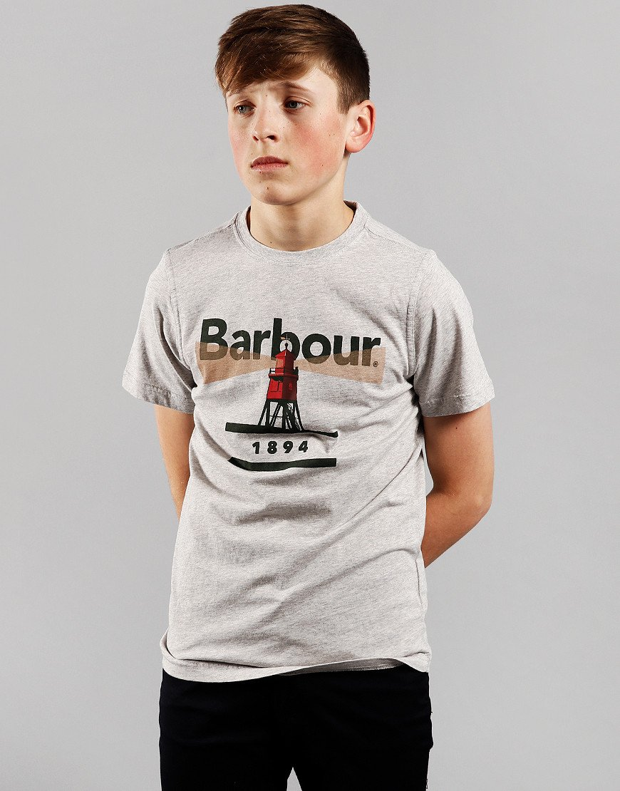 Barbour Children Lighthouse T-Shirt Grey Marl