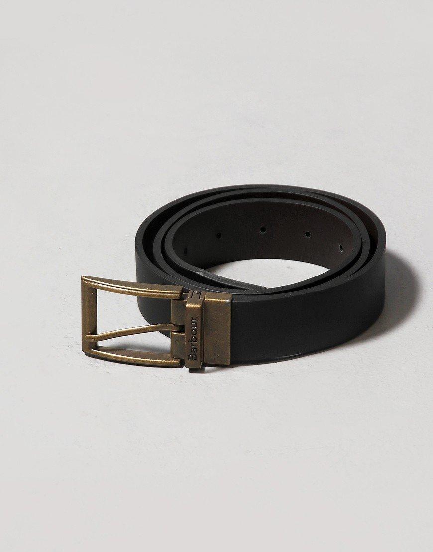 Barbour Reversible Leather Belt Gift Box Black