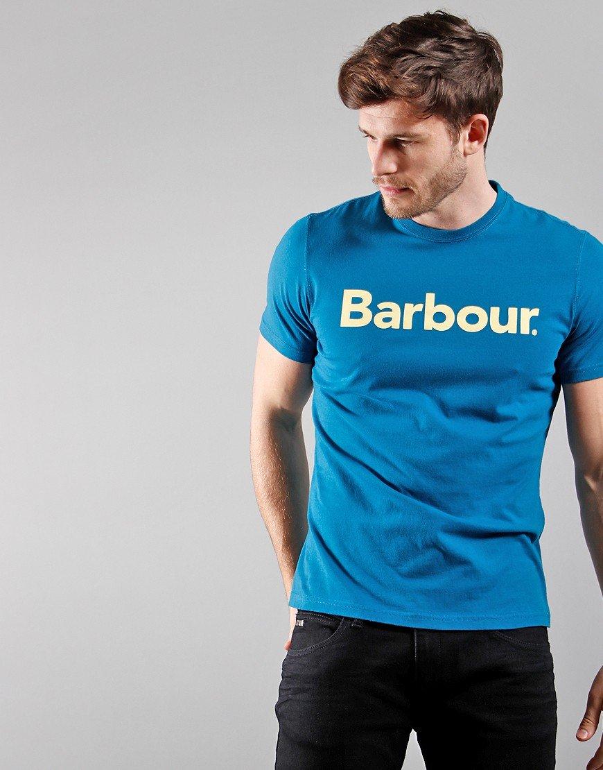 Barbour Logo T-Shirt  Lyons Blue