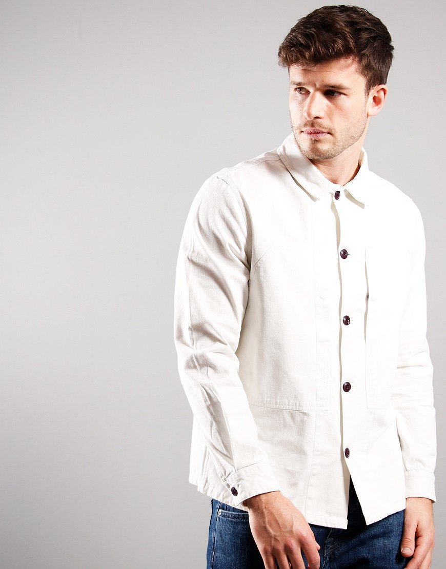 Barbour Loweswat Twill Overshirt Chalk