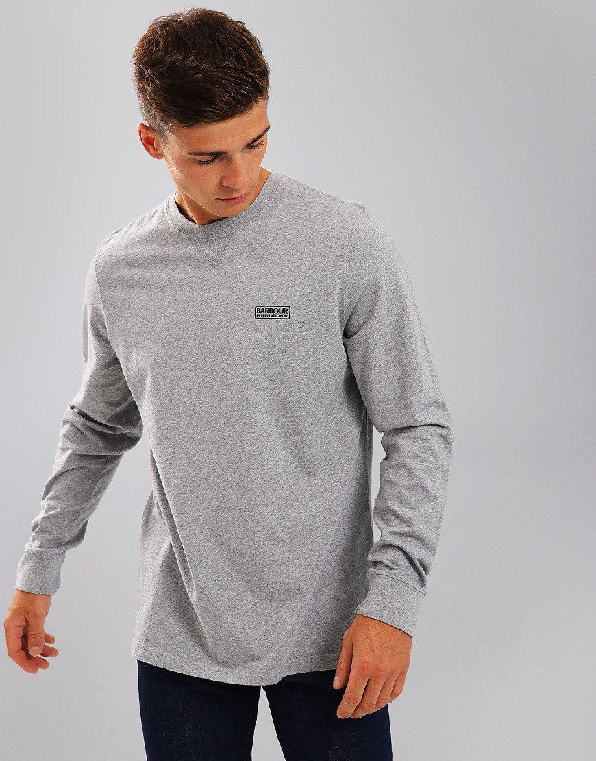 Barbour International Long Sleeve Logo T-Shirt Anthracite