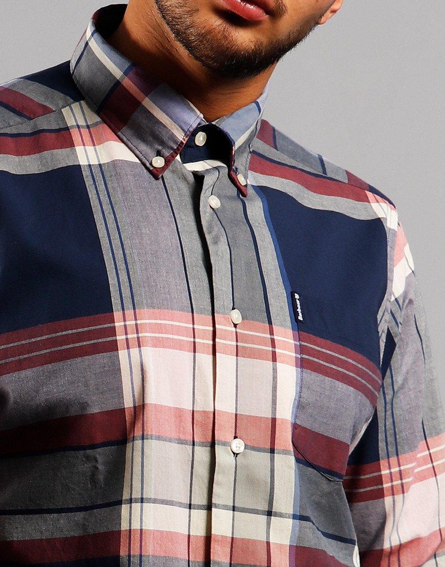 Barbour Madras 7 Long Sleeve Shirt Navy