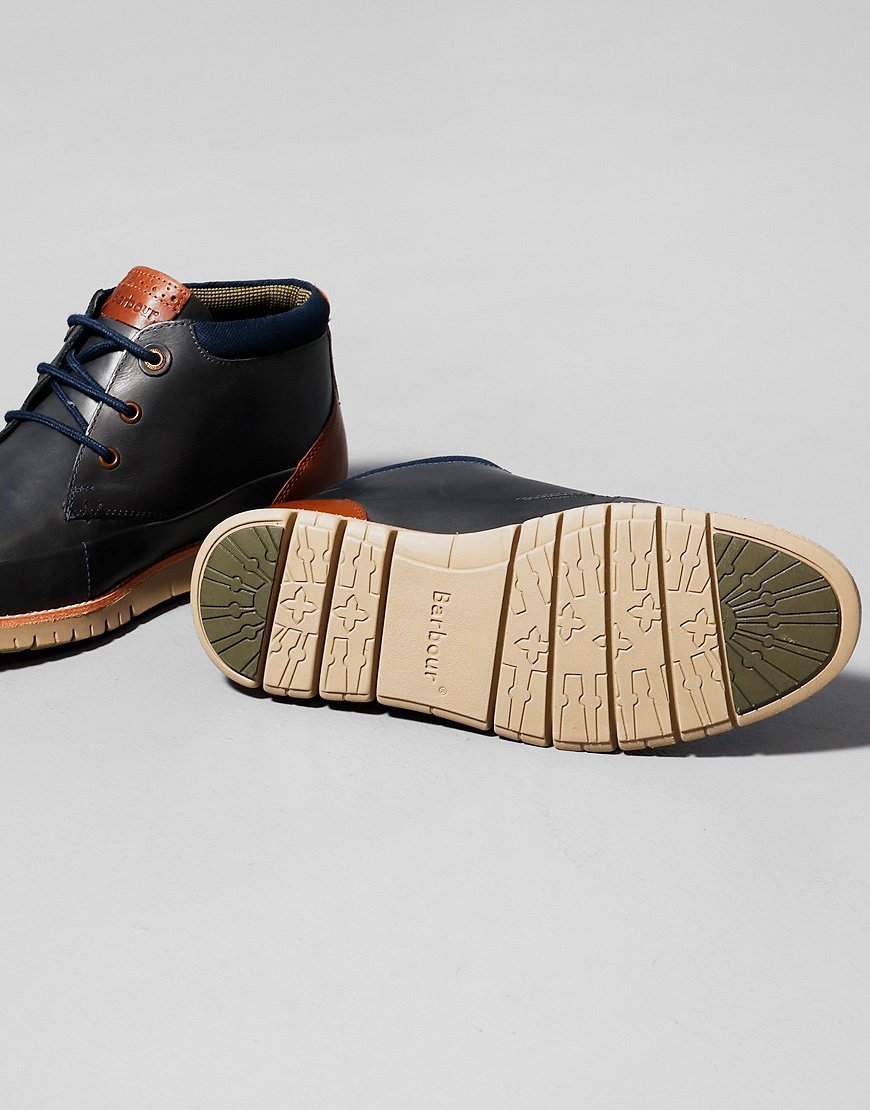 Barbour Nelson Chukka Boots Navy