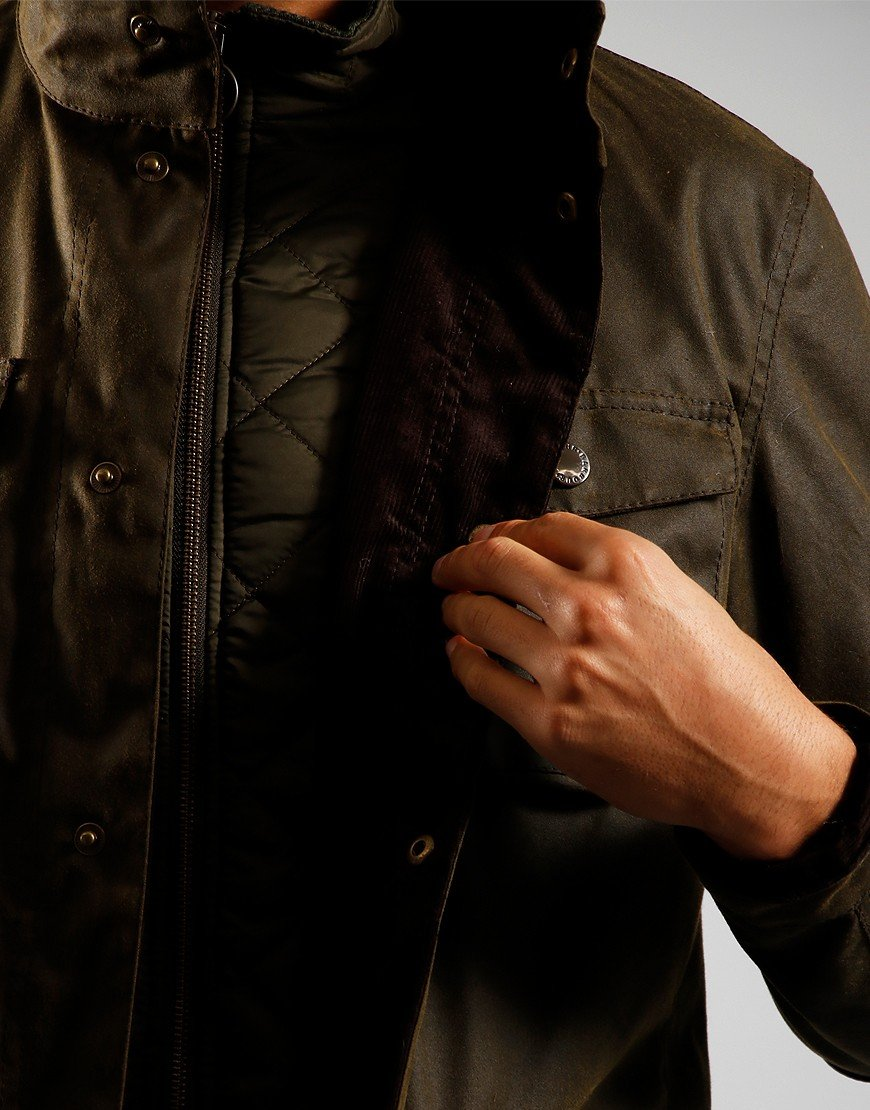 Barbour Ogston Wax Jacket Olive
