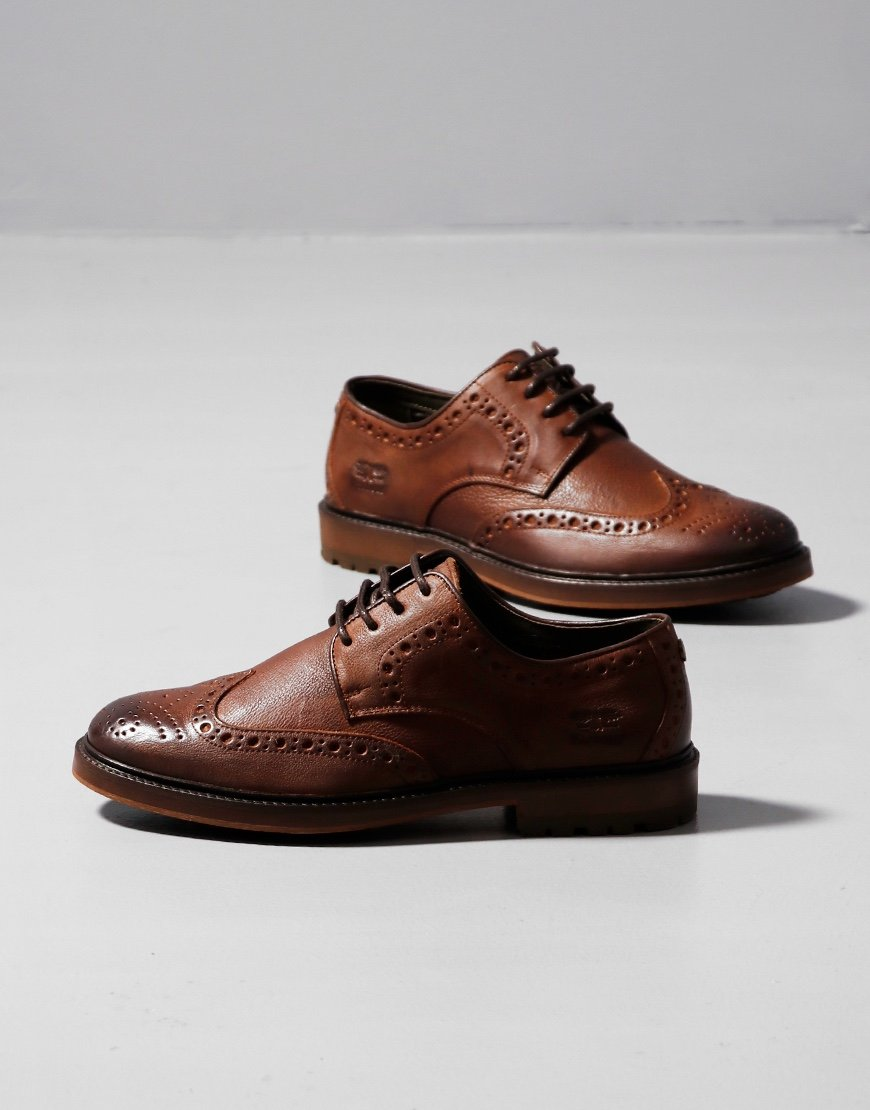 Barbour Ouse Leather Brogue Shoes Tan