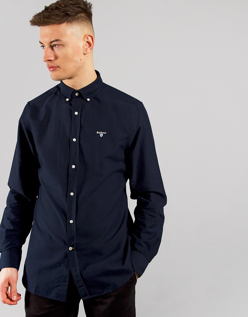 Barbour Oxford 3 Long Sleeve Shirt Navy