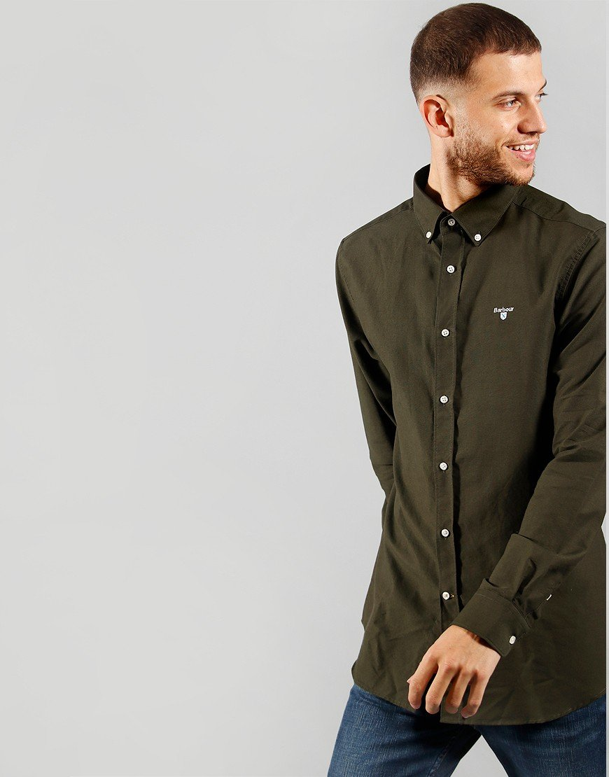 Barbour Oxford 3 Long Sleeve Shirt Forest