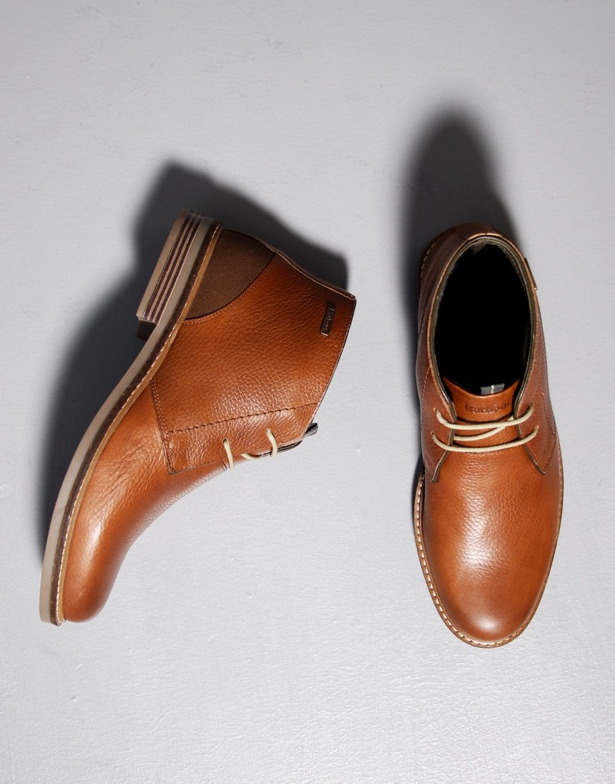 Barbour Readhead Chukka Boots Cognac