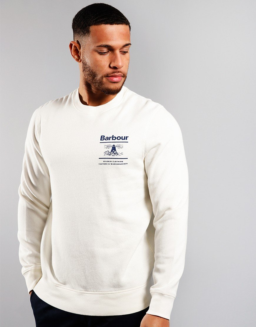 Barbour Reed Crew Sweat Ecru