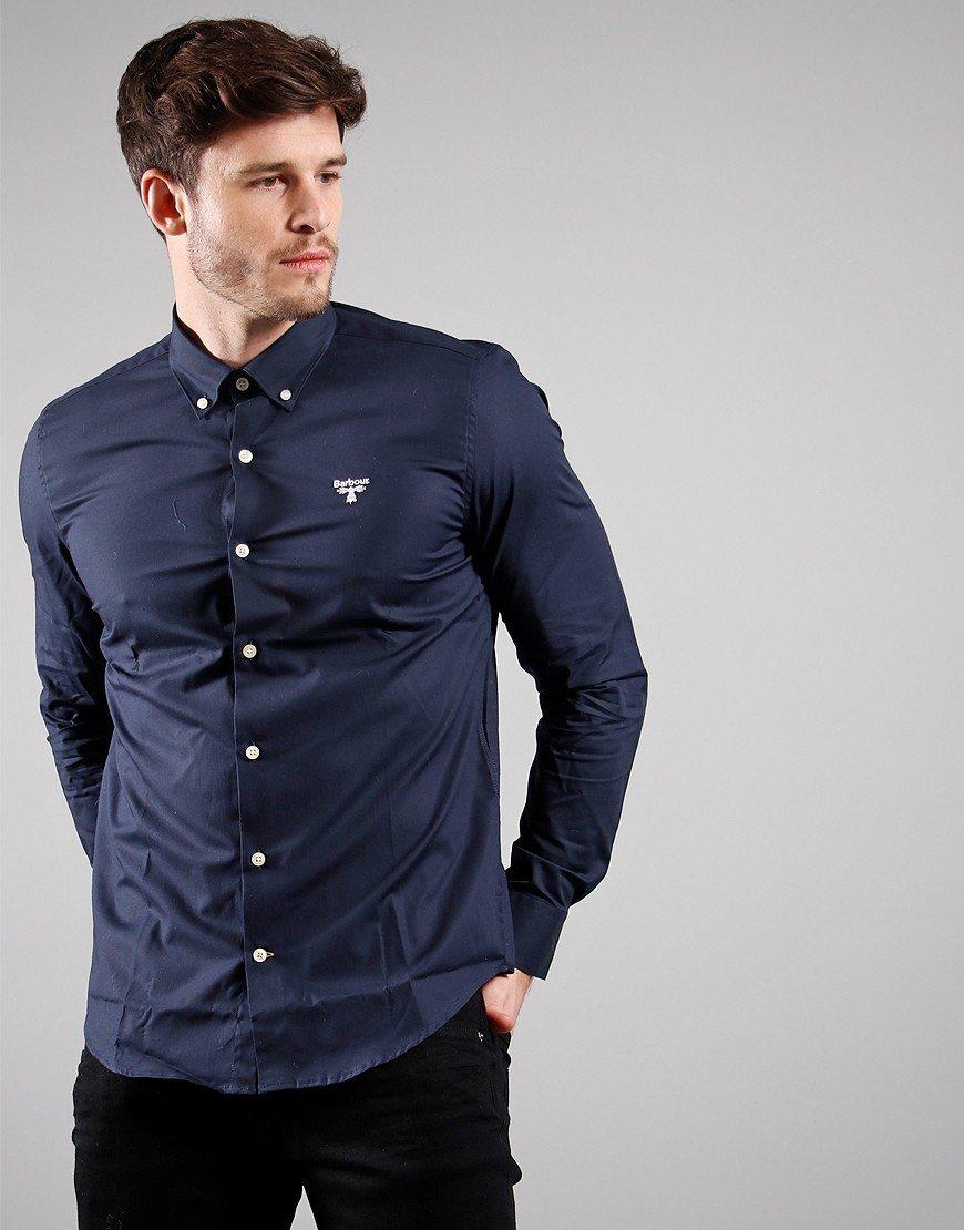 Barbour Beacon Seathwaite Long Sleeved Shirt Navy
