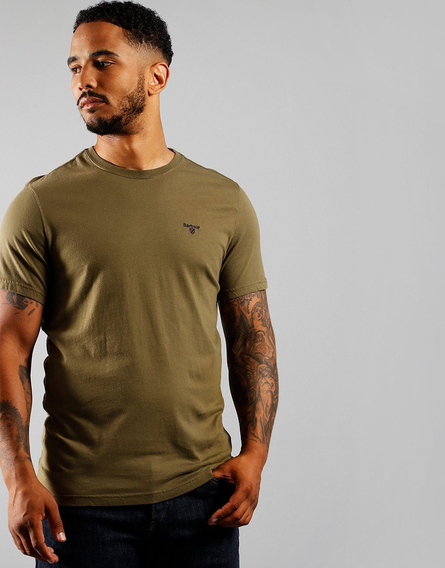 Barbour Sports T-Shirt Mid Olive