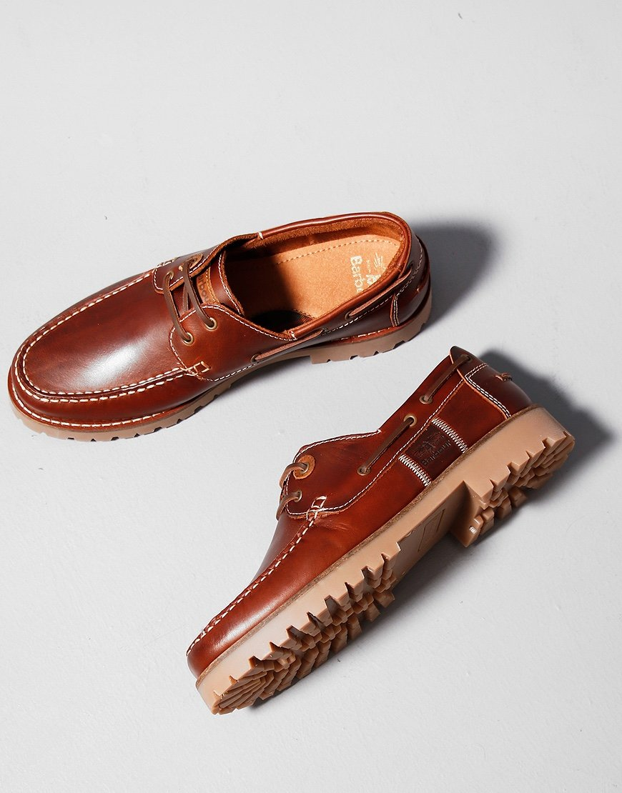 Barbour Stern Boat Shoes Mahogany