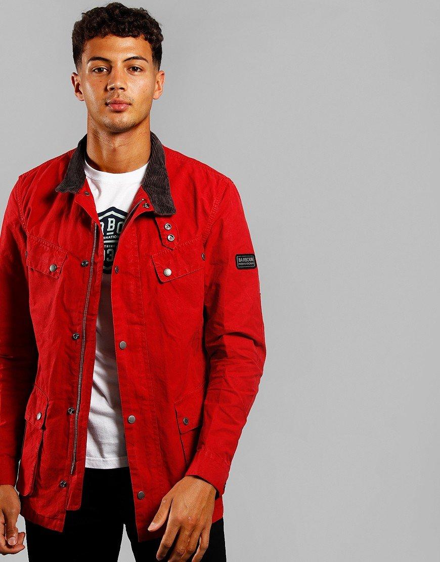 Barbour International Summer Wash Duke Jacket Scarlet Red