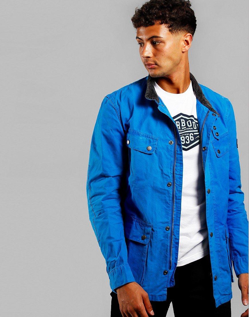 Barbour International Summer Wash Duke Jacket Azurite
