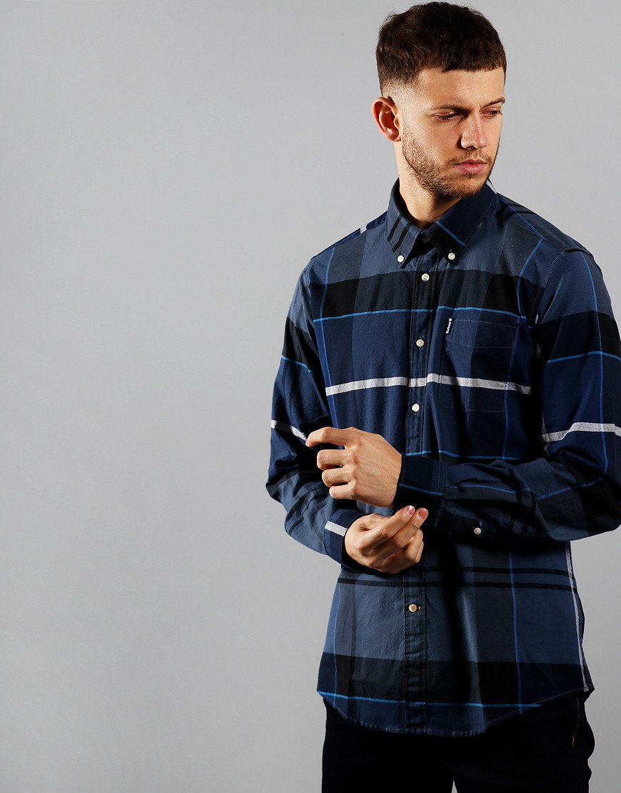 Barbour Sutherland Long Sleeve Shirt Inky Blue