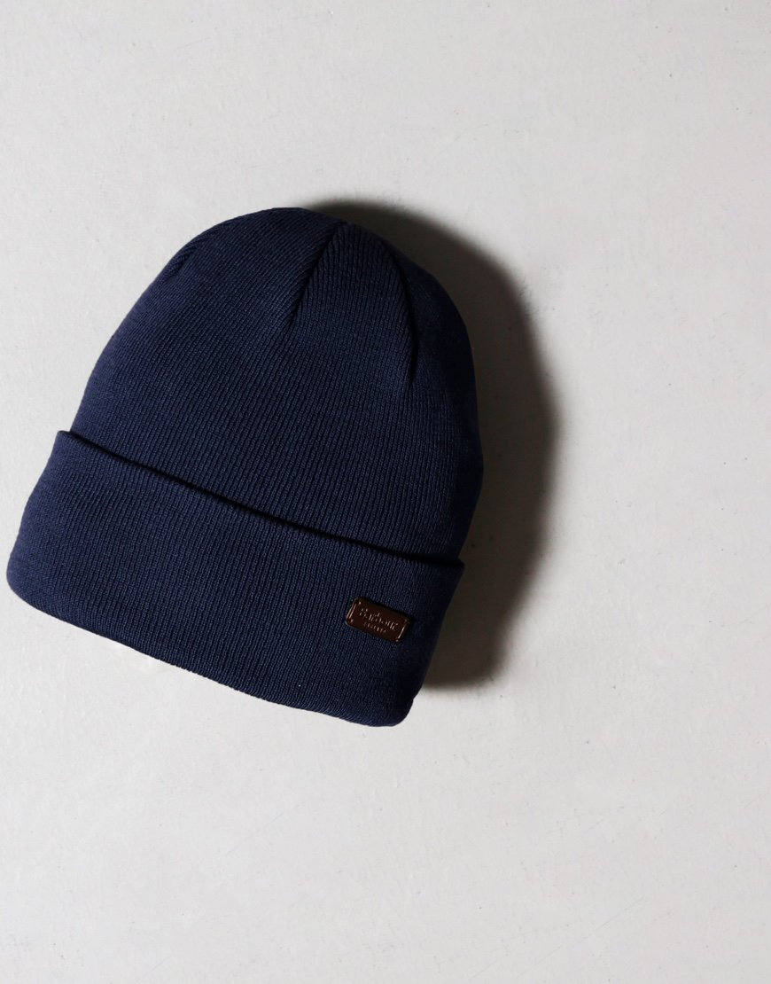 Barbour Swinton Beanie Hat Navy