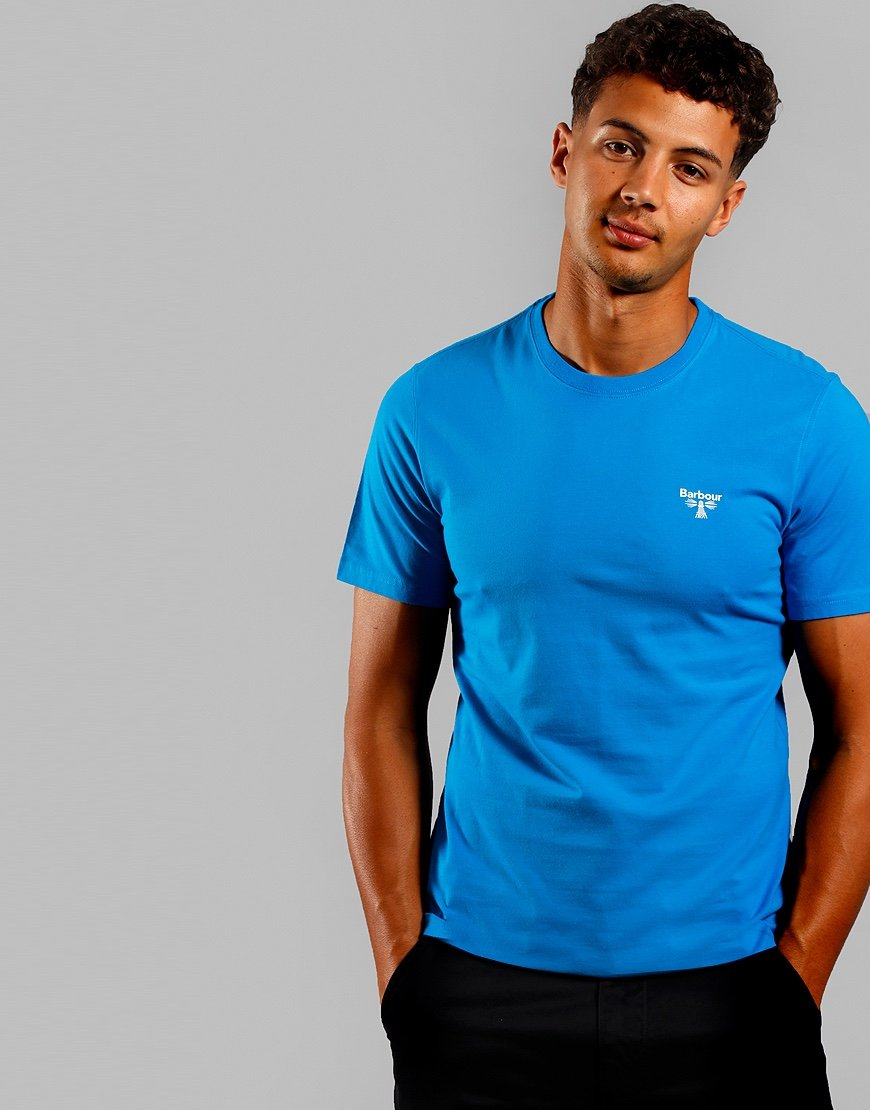 Barbour Beacon Logo T-Shirt Bright Blue