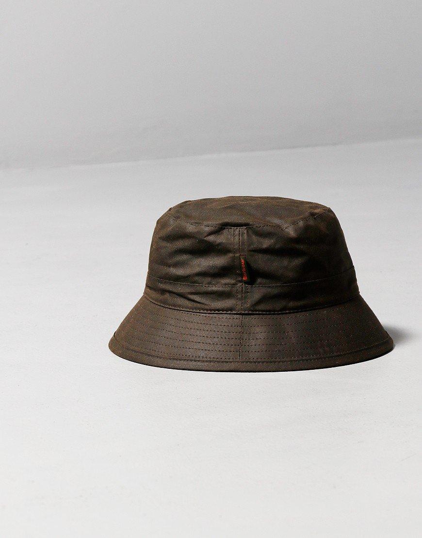 Barbour Wax Sport Bucket Hat Olive