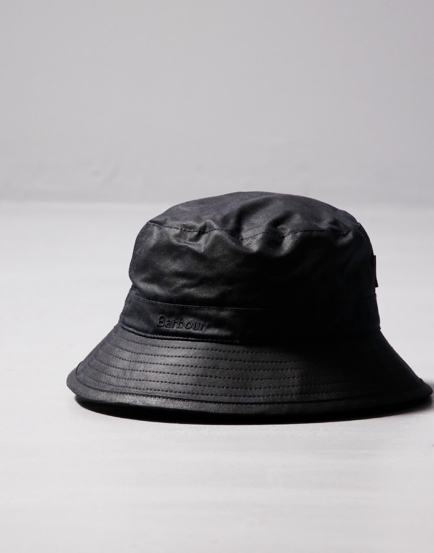 Barbour Wax Sport Bucket Hat Navy