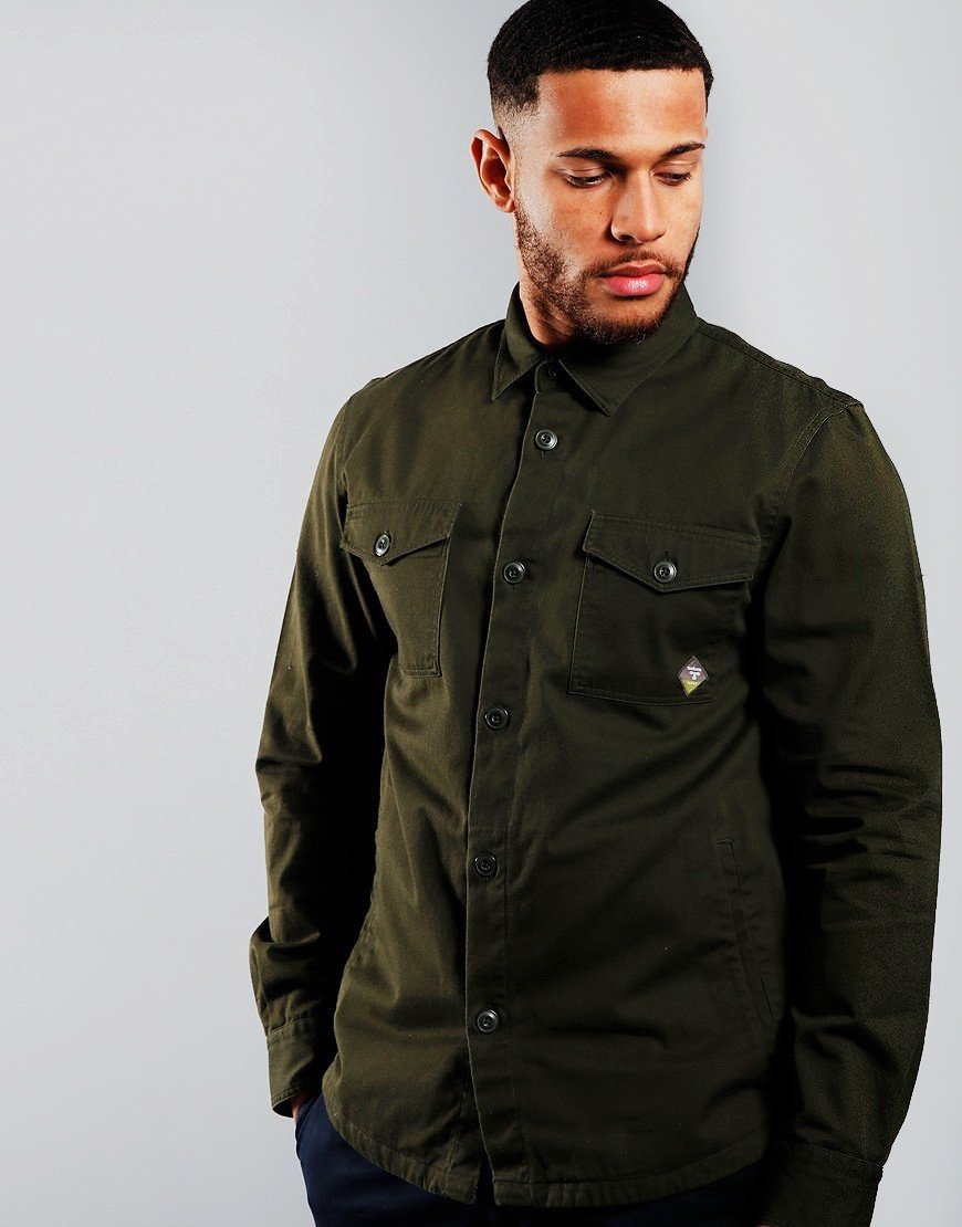 Barbour Beacon Twill Overshirt Forest