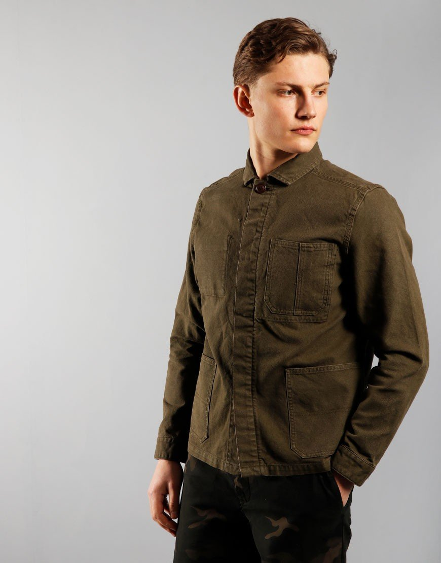 Barbour Duncansea Overshirt Dusty Olive