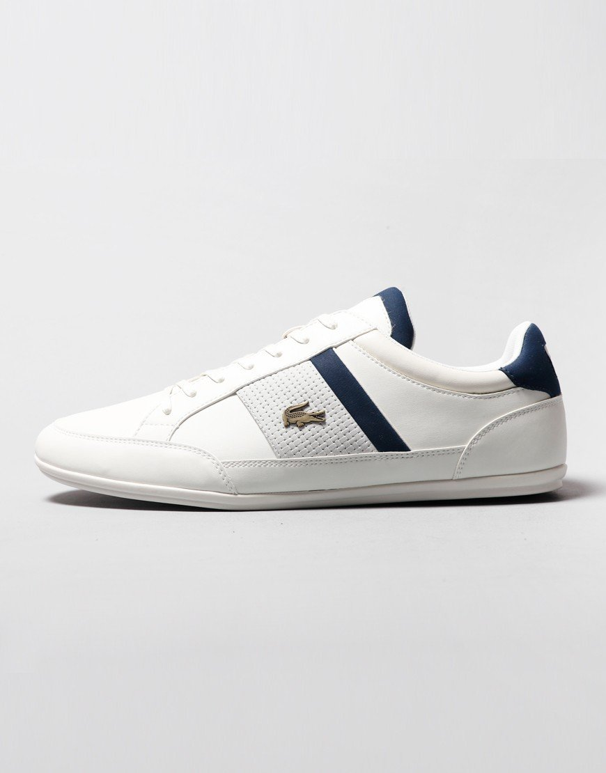 Lacoste Chaymon 120 Trainers Off White/Navy