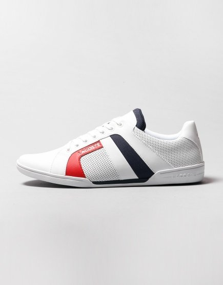 Lacoste Chaymon Club Trainers White/Navy