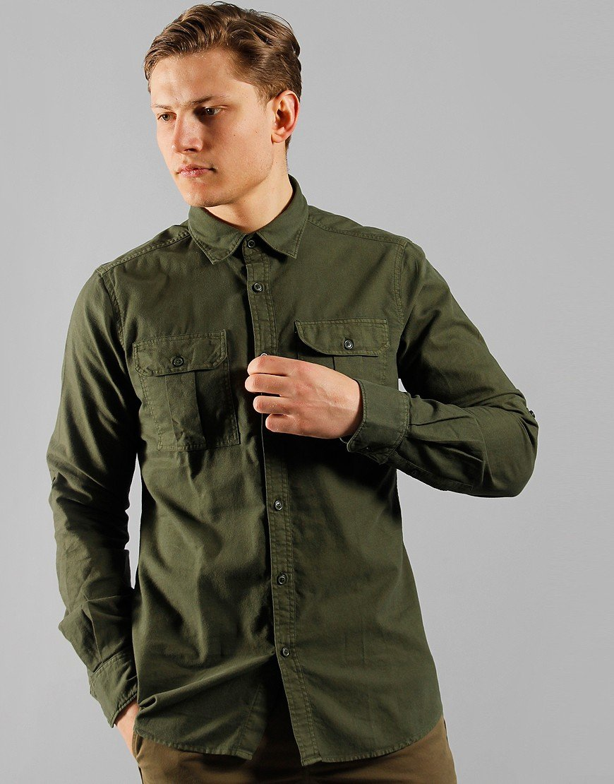 Barbour International Manifold Long Sleeve Shirt Jungle Green