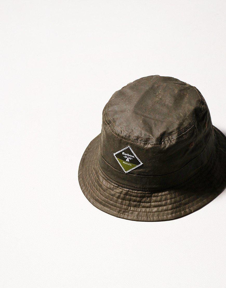 Barbour Beacon Wax Sport Bucket Hat Olive
