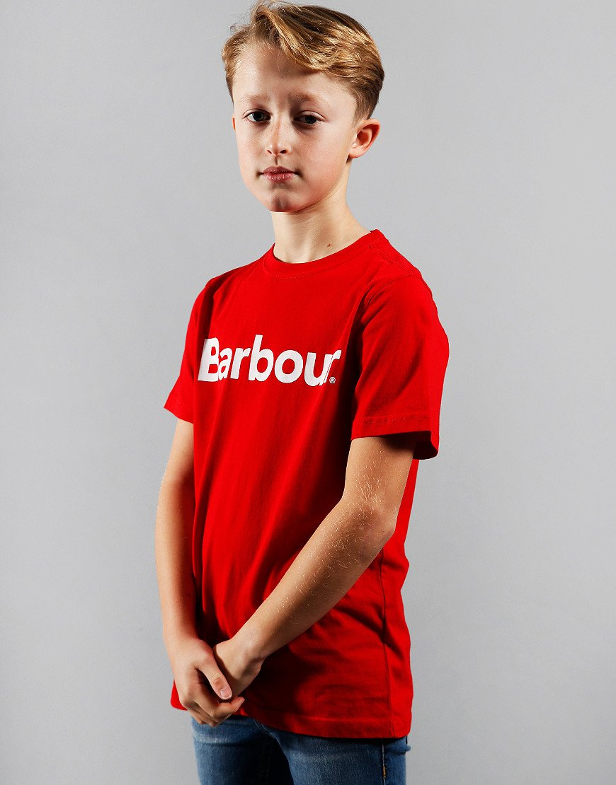 Barbour Children Boys Logo T-Shirt Red