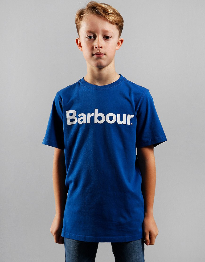 Barbour Children Boys Logo T-Shirt True Blue