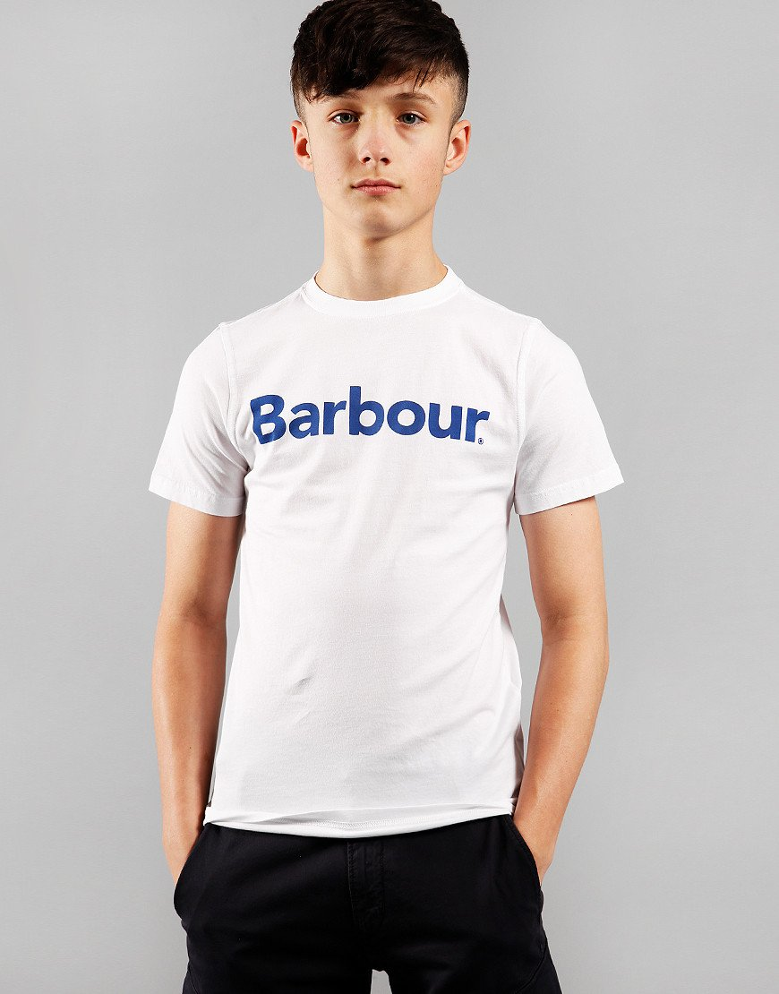 Barbour Children Boys Logo T-Shirt White