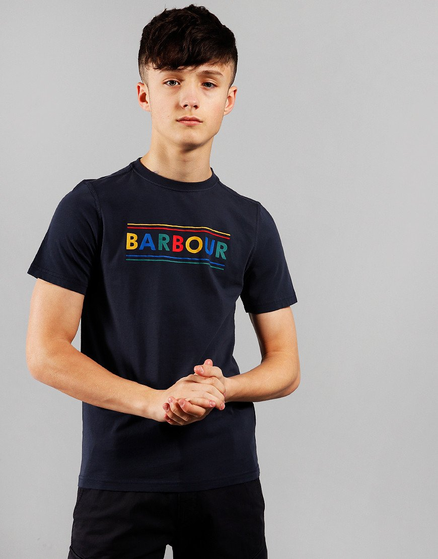 Barbour Children Multi Logo T-Shirt Navy
