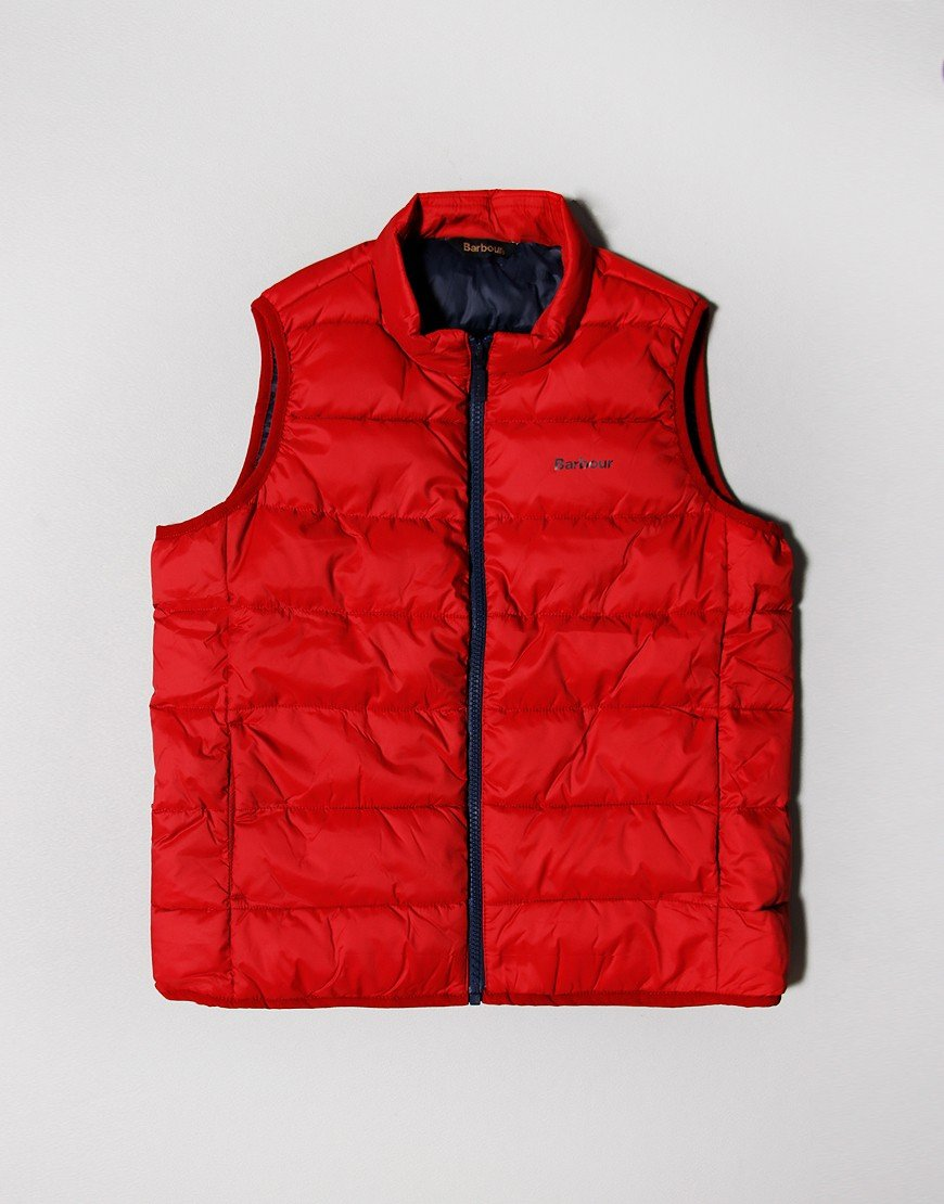 Barbour Children Trawl Gilet Red